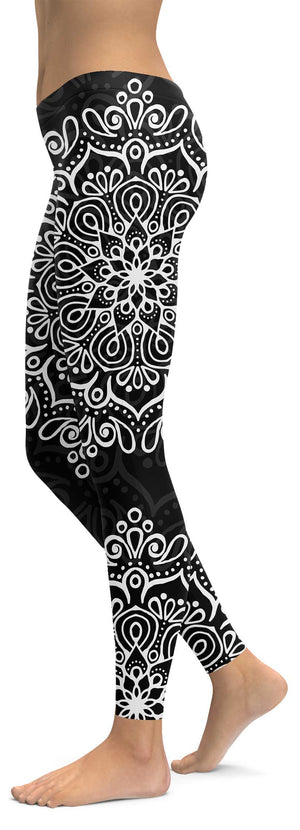 Black White Mandala Leggings