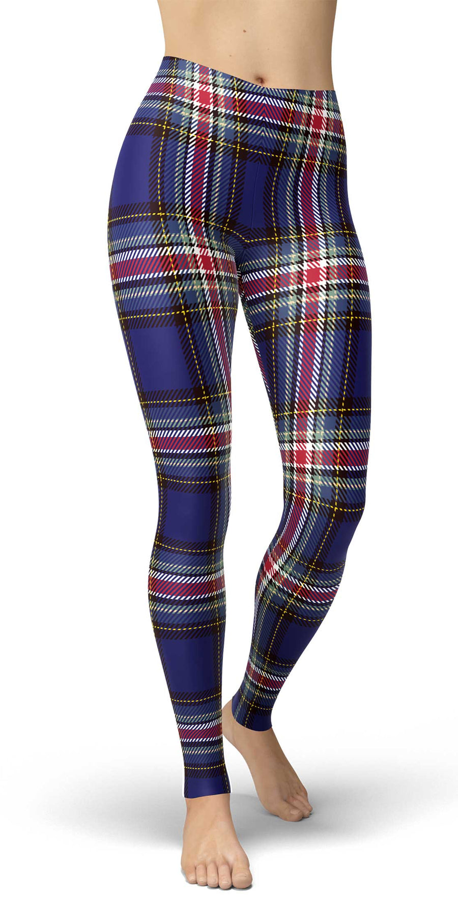 Blue Tartan Irish Leggings