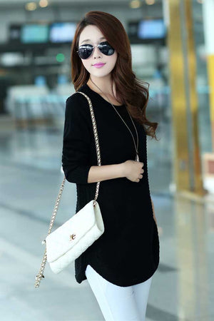 Elegant Dress Sweater - SIDE