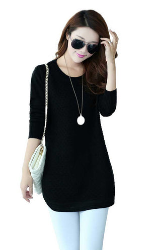 Elegant Dress Sweater - Black
