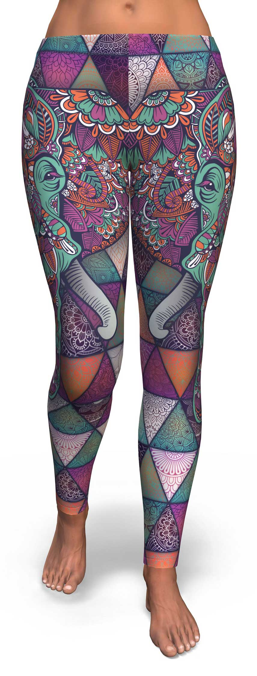 Mandala Elephant Leggings