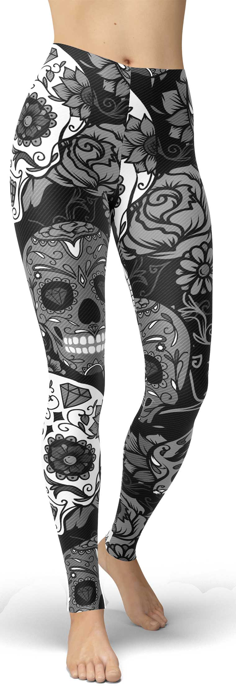 Black Sugar Skull Leggings
