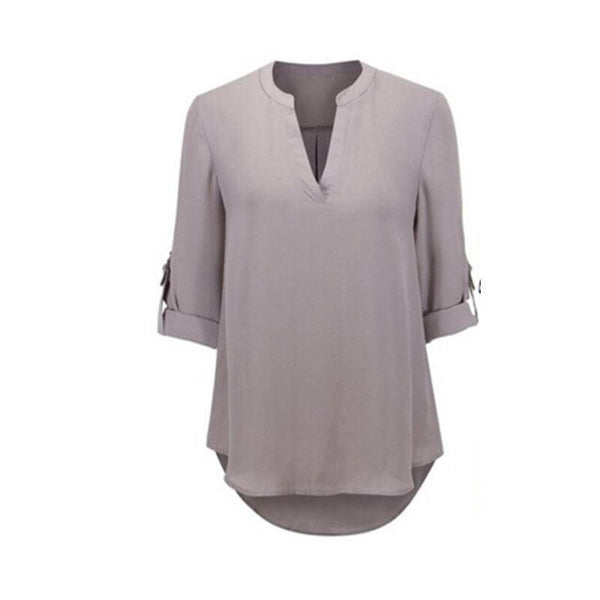Gentle Elegance V-Neck Top