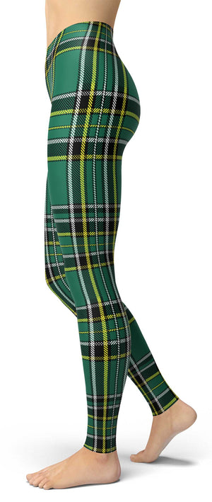 Green Tartan Irish Leggings