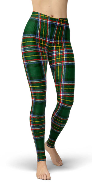 Irish American Tartan Leggings Front