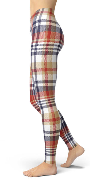 Mixed Color Tartan Leggings