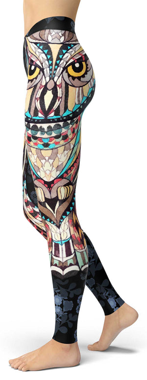 Ornamental Owl Leggings