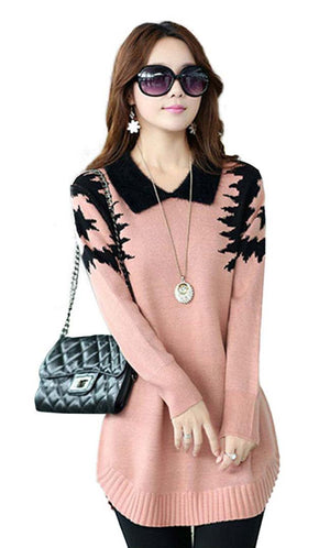 Pink Elegant Dress Sweater