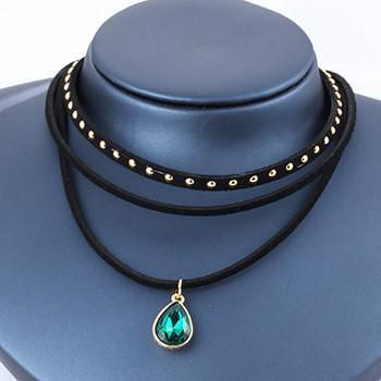 Multilayer Gothic Charm Choker Necklace