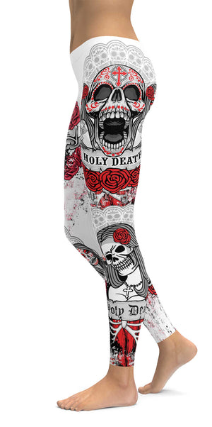 Red Cross Skull Leggings
