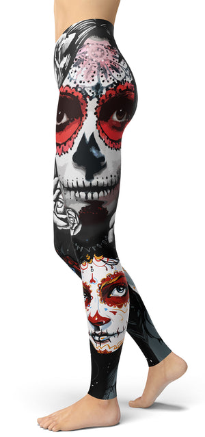 Sugar Skull Head Leggings