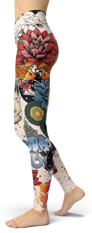 Lotus Tatoo Leggings
