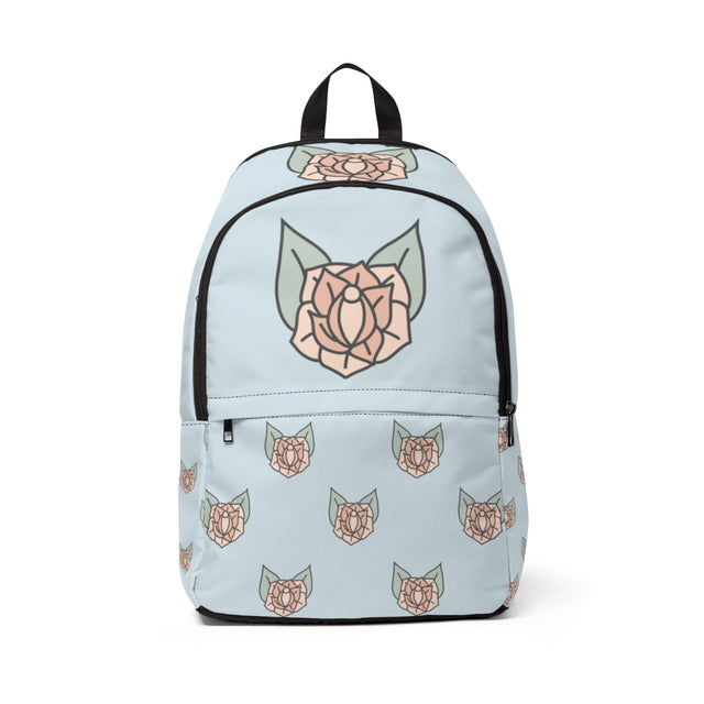 Sneaky Rose Vulva Pattern Backpack