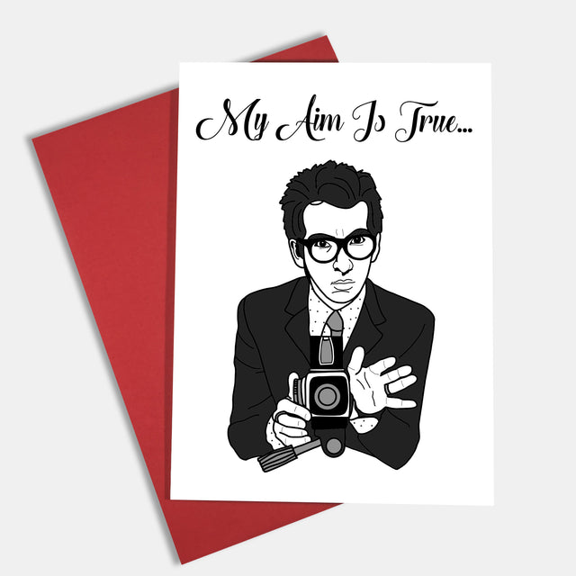 Elvis Costello Greeting Card - Lady No Brow - Feminist Fashion