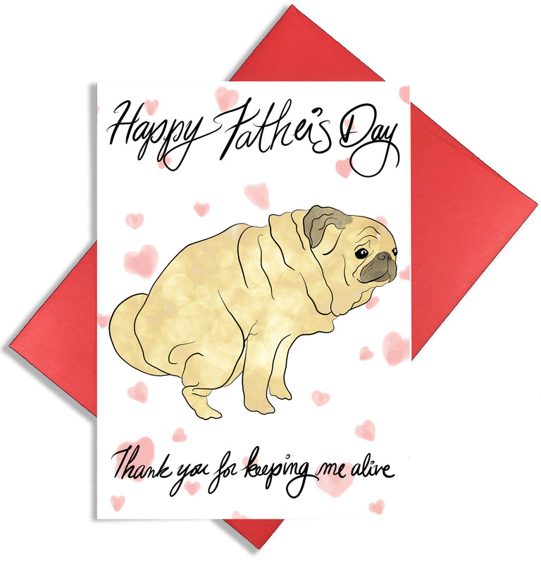 Father's Day Dog Card - Lady No Brow