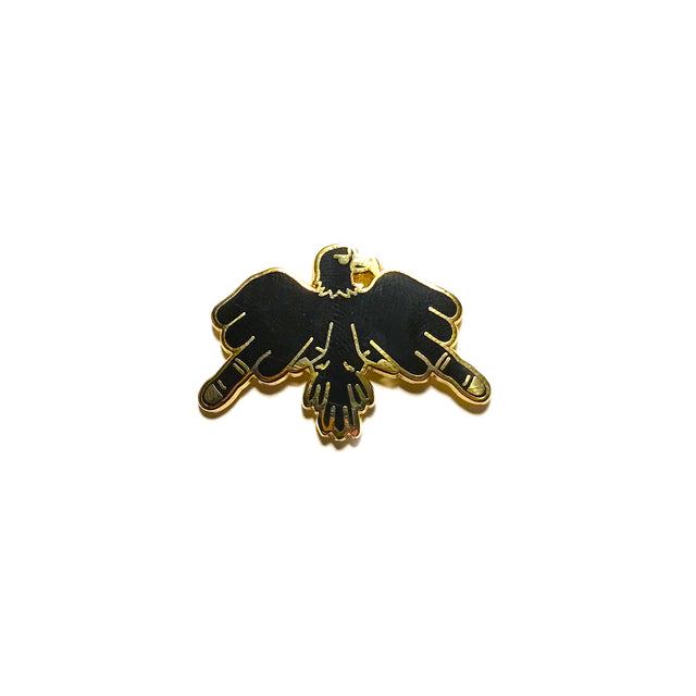 Finger Bird Enamel Pin - Lady No Brow - Feminist Fashion