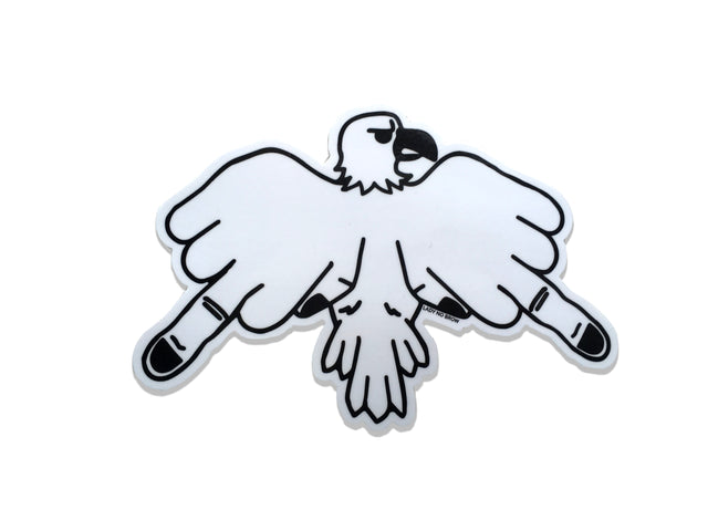 Finger Bird Sticker - Lady No Brow - Feminist Fashion