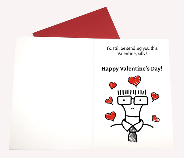 Descendents Valentine Card - Lady No Brow - Feminist Fashion