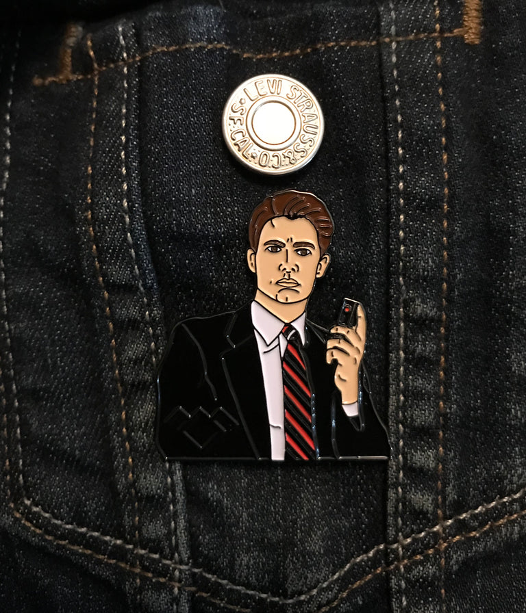 Agent Cooper Enamel Pin - Twin Peaks - Lady No Brow - Feminist Fashion