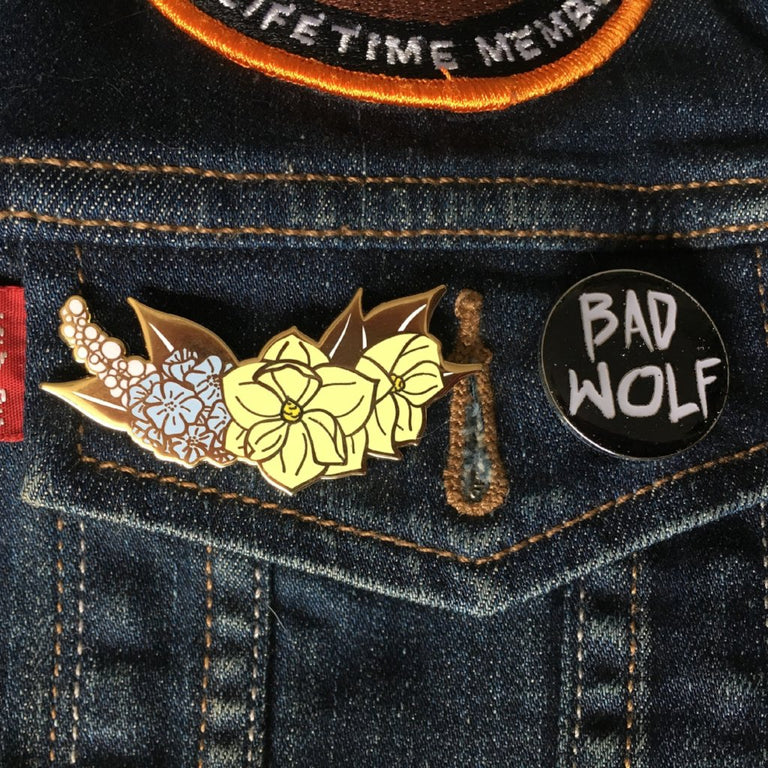 Magnolia Pin - Lady No Brow - Feminist Fashion