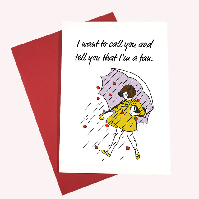 Jawbreaker Valentine Card - Lady No Brow - Feminist Fashion