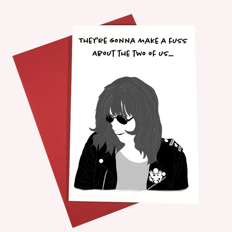 Ramones Valentine Card - Lady No Brow - Feminist Fashion