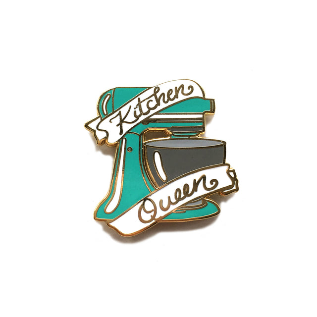 Kitchen Queen Enamel Pin - Lady No Brow - Feminist Fashion
