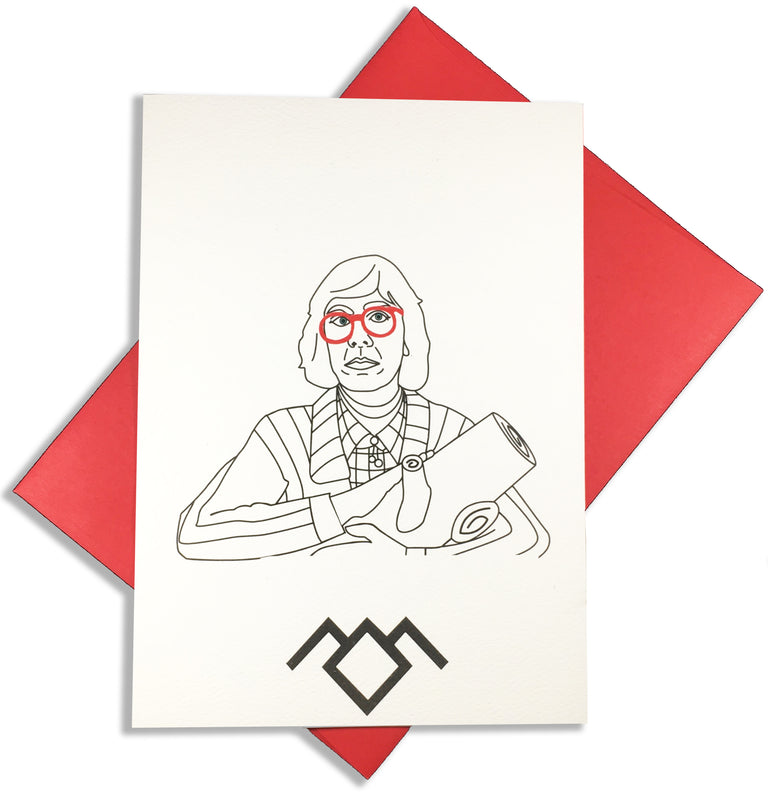 Twin Peaks Greeting Cards - Lady No Brow - Feminist Fashion