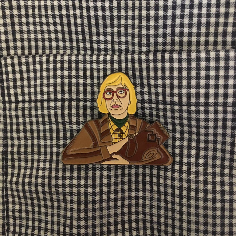 Log Lady Enamel Pin - Twin Peaks - Lady No Brow - Feminist Fashion