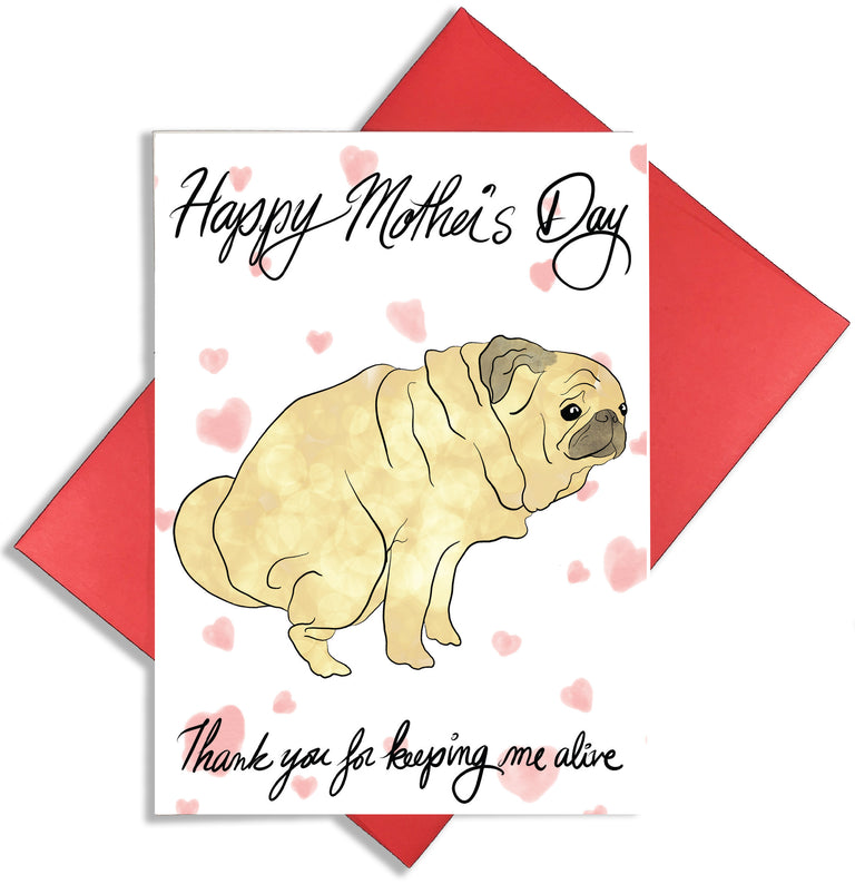 Mother's Day Dog Card - Lady No Brow - Greeting Card