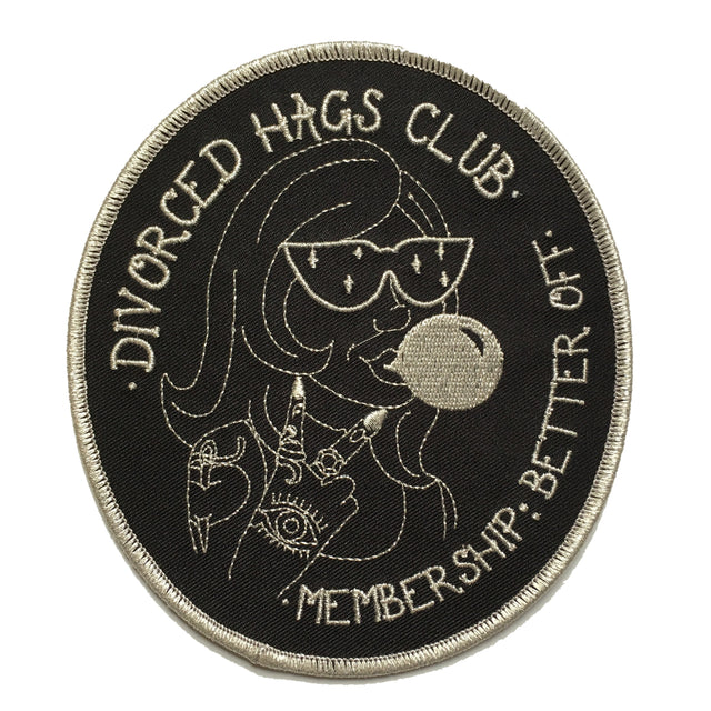 Divorced Hags Club Patch - Lady No Brow - Feminist Fashion