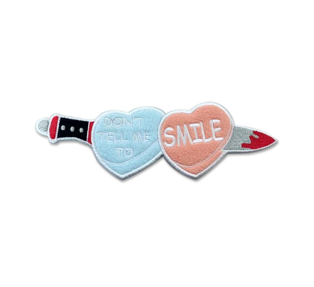 Don't Tell Me to Smile Patch - Lady No Brow - Feminist Fashion