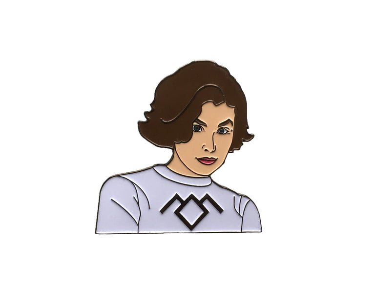Audrey Horne Enamel Pin - Twin Peaks - Lady No Brow - Feminist Fashion