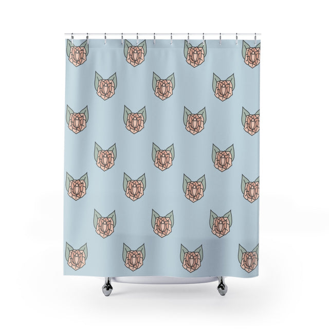Sneaky Rose Vulva Shower Curtain