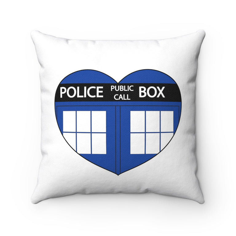 TARDIS Heart Pillow Case