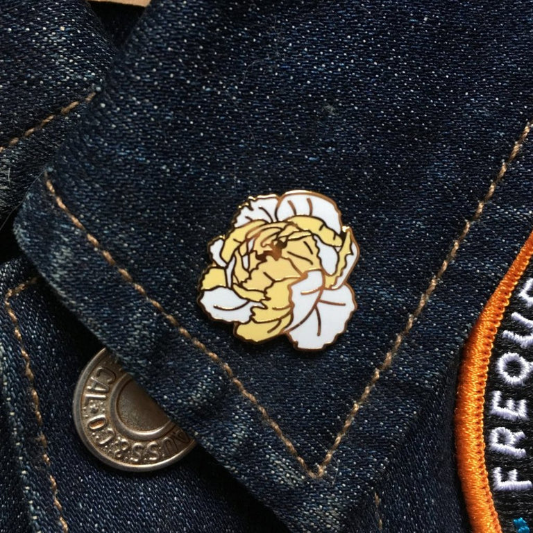 Peony Pin - Lady No Brow - Feminist Fashion