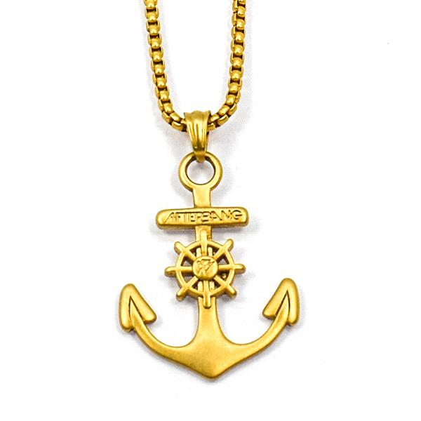 Gold stainless steel Anchor pendant