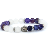 White and purple bloom bracelet