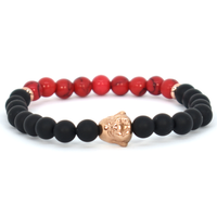 Red and Black Lumberjack men bracelet