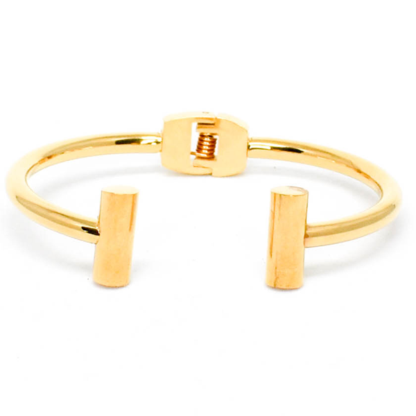 Gold stainless steel composition bracelet