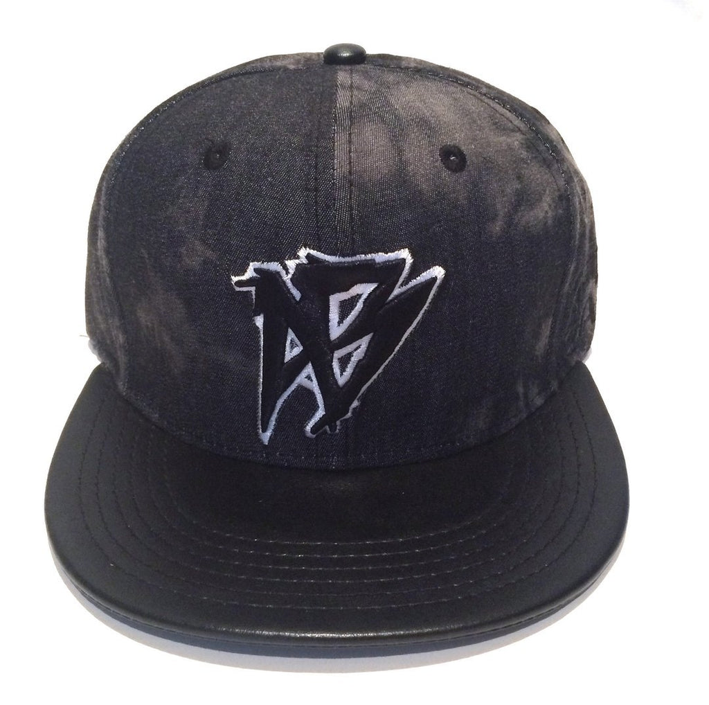 Snap-Back Acid Wash Black Leather - Afterbang Eyewear Sale & Fashion Accessories Sale