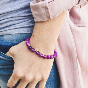 Lifestyle Gold and purple Dame bracelet