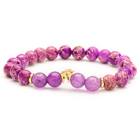 Purple and gold Dame bracelet