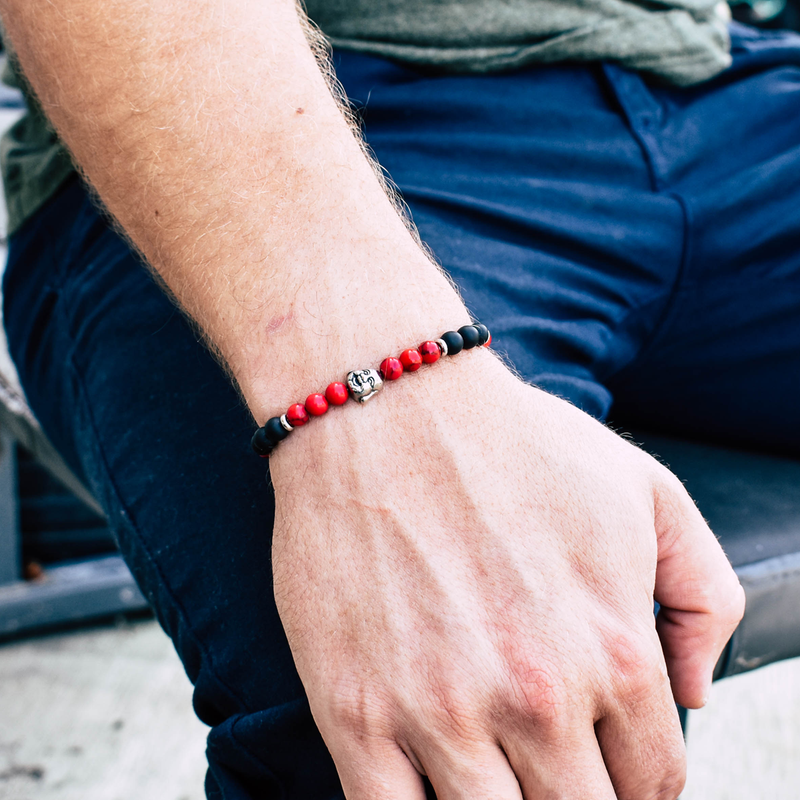 Lifestyle Black and red Dragon bracelet