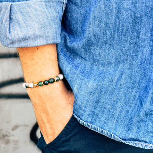 Men lifestyle green Ecologist bracelet