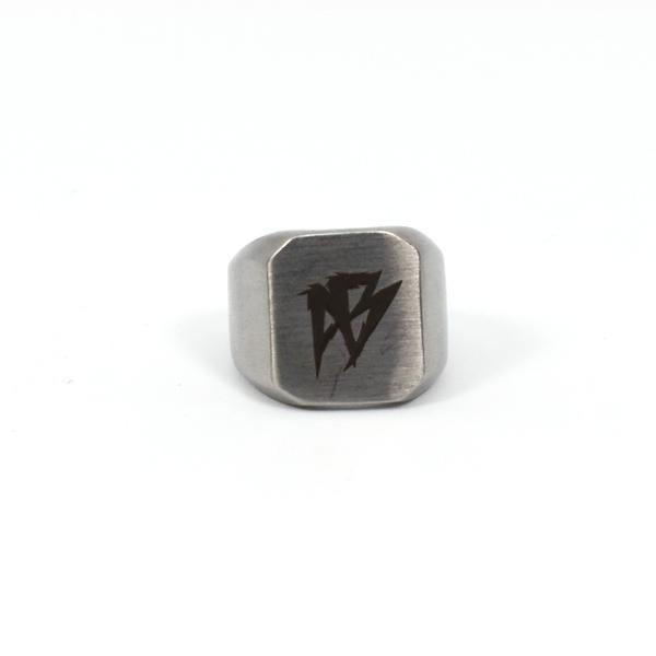 Afterbang silver godfather ring