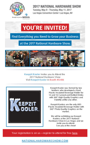2017 National Hardware Show Las Vegas Keepzit Kooler Inventors Spotlight