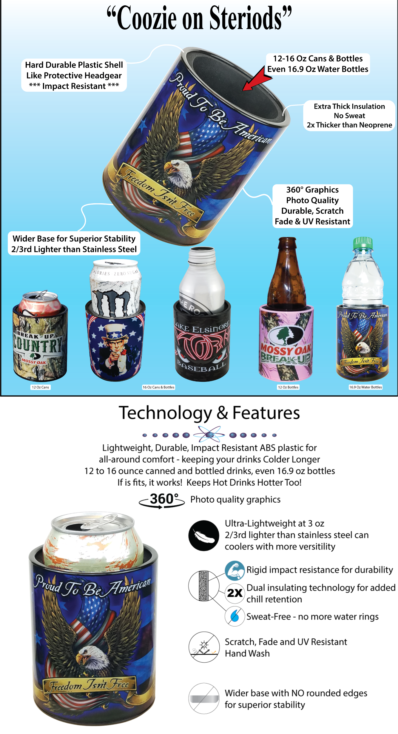 Coozie on Steriods Specifications Technology Features
