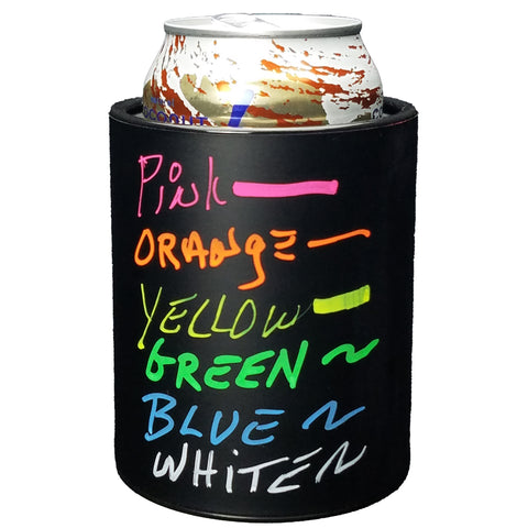 CHALKBOARD KEEPZIT KOOLER (4 PACK) PREMIUM INSULATED BEVERAGE HOLDER WITH SIX COLOR MARKERS