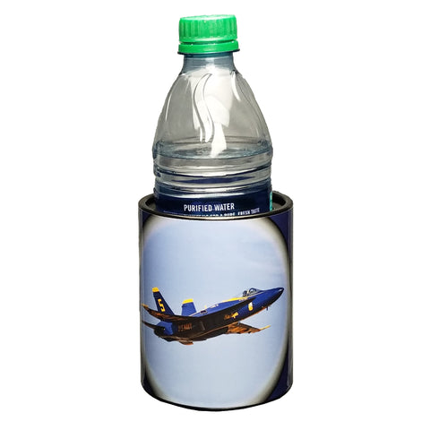 Image of Blue Angels #5 Solo with Pilot Cameo Keepzit Kooler - Black with 16.9 oz Water Bottle